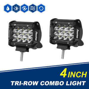 4 Inch 168w Led Work Light Bar Flood Combo Pods Driving Off Road Tractor Ute 12v