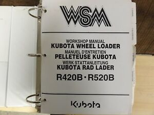 Kubota R420b R520b Wheel Loader Workshop Repair Manual W Mechanism Chapter