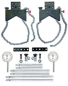 Starrett S668cz Shaft Alignment Clamp Set With Fitted Case And Dial Indicators