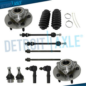 For 2002 2003 2004 2005 Dodge Ram 1500 Front Wheel Bearing Hub Tie Rods 4wd