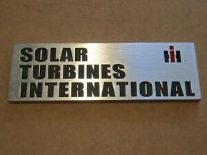 Ih Solar Gas Turbine Side Panel Emblem Plate 900501c2