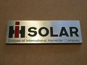 Ih Solar Gas Turbine Side Panel Emblem Plate 900501c1