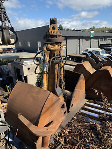 Liebherr Gm 20 Clam Grab Fit s 904 Boom Used Good Needs Rotation Motor