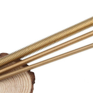 M2 m20 Solid Brass Fully Threaded Rod Screw Bar Studs Length 250mm 500mm