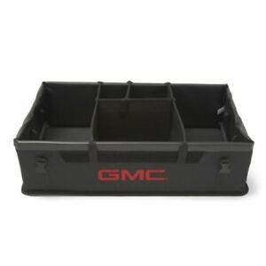 Oem Gm Rear Cargo Area Organizer Container Storage Box Collapsible Gmc Logo