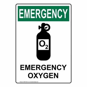Emergency Oxygen Osha Safety Label Decal 5x3 5 In 4 pack Vinyl Made In Usa