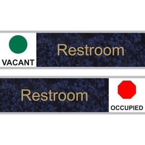Compliancesigns Engraved Plastic Sliding Unisex Family Assisted Restroom Sig