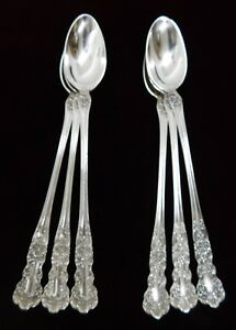 Six 6 Gorham Buttercup Sterling Silver Iced Tea Spoons Old Marks J1079