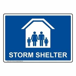 Storm Shelter Label Decal 7x5 In Vinyl For Emergency Response Made In Usa