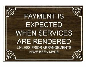 Compliancesigns Engraved Plastic Payment Is Expected When Services Engraved