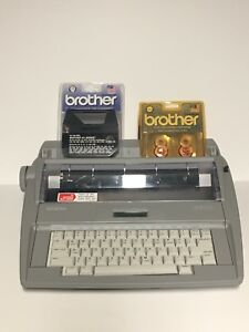 Brother Sx 4000 Portable Electronic Display Typewriter W Ribbons Correction Tape