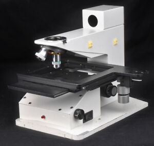 Leitz Wetzlar Inspection Microscope Motorized Objective Turret Body Stage Base