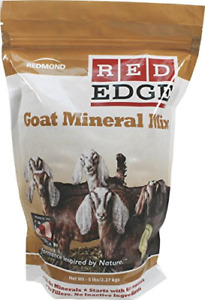 Redmond Red Edge Goat Mineral Mix Livestock Natural Healthy Balance Feed 25 Lbs