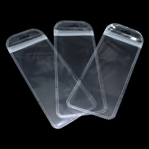 Clear Zip Lock Plastic Pouch Food Grade Storage Reclosable Bag Package With Hole