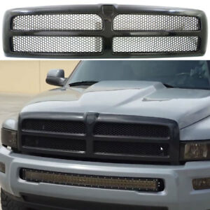Dodge Ram 1500 Black Hood Grille For 1994 1995 1996 1997 1998 1999 2000 2001