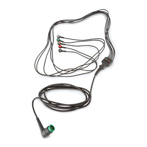 Used Physio Control 5 wire Ecg Cable For Lifepak 12 15 20 11110 000066