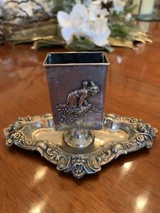 Exceptional Art Nouveau Sterling Silver Match Box Holder Kerr