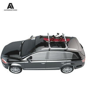 Aluminum Skis Snowboard Roof Top Carrier Rack Fits 4 Pair Skis Or 2 Snowboards