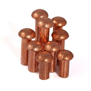 Round Button Head Copper Solid Rivets Nuts Insert Fasteners M2 M2 5 M3 50pcs