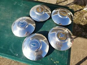 5 1949 1950 Chevrolet Chevy Dog Dish Hubcaps Wallhanger Mancave