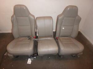 1999 2010 Ford F250 F350 Superduty Lariat Leather Front Seats With Jump Seat