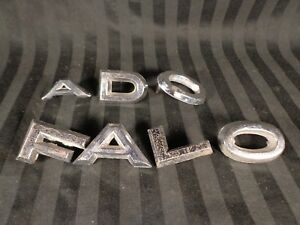 Vintage 1962 63 Ford Falcon Chrome Emblem Letters Lot Trunk Tailgate Fomoco Oem