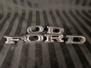 Vintage 60 s 70 s Ford Chrome Emblem Letters Lot Fomoco Oem Awesome Clean