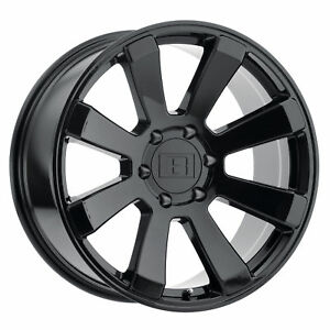 20x9 Level 8 Enforcer Gloss Black Wheels 6x5 5 0mm Set Of 4