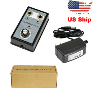 Us Ship Double Hole Car Spark Tester Detector Ignition Plug Analyzer 12v Vehicle