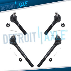 1994 1995 1996 1997 1999 Dodge Ram 1500 2500 3500 Front Inner Outer Tie Rods 2wd