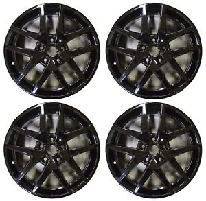 17 Ford Fusion 2010 2011 2012 Factory Oem Rim Wheel 3797 3979 Gloss Black Set