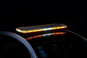 1 3 Thick Ultra Thin Amber Emergency Led Light Bar Tow Truck Wrecker Police 46