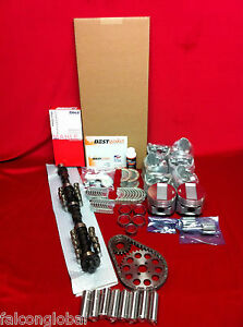 Plymouth 277 Poly Deluxe Engine Kit 1956 57 Pistons Gaskets Bearings Valves Cam