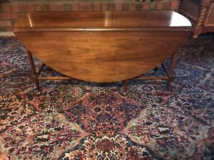 Vintage Baker Furniture Drop Leaf Gate Leg Accent Coffee Tea Table Lovely