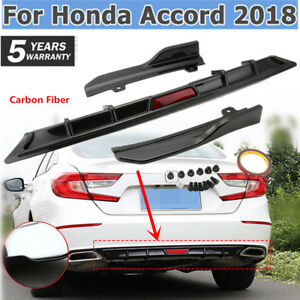 Carbon Fiber For Honda Accord 2018 Rear Bumper Cover Lip Diffuser Spoiler Wing