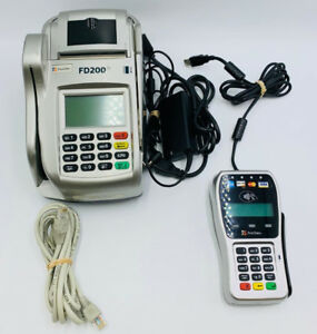 First Data Fd200 Combo With First Data Fd 35 Pos Sales Credit Card Machine