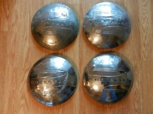 Vintage 1940s Chevrolet Dog Dish Hub Caps 4 Original