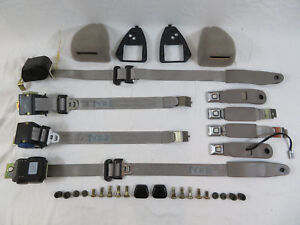 1990 1992 Ford Mustang Coupe Seat Belt Kit Oem Factory Ford Titanium Gray Lx