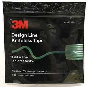 New 3m Design Line Knifeless Tape For Graphics Wraps 1 8 X164 3 5mmx50 Meter