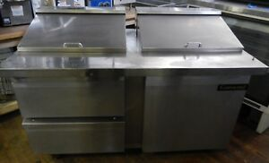 Refrigerated Sandwich Prep Table By Continental Sw60 24m