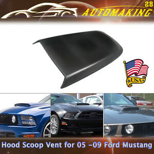 For Ford Mustang Gt V8 Racing Front Air Vent Hood Scoop Vent Black Abs Us Stock