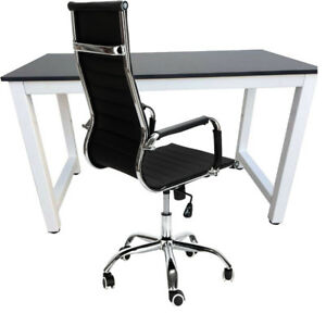Computer Desk Pc Laptop Table And Adjustable Office Chair Ergonomic Swivel Chair