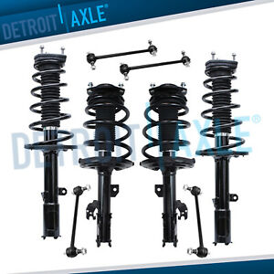 For 2007 2008 2009 2011 Toyota Camry Front Rear Struts W Spring Sway Bar Links