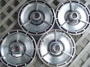 Vintage 1964 64 Chevrolet Chevy Impala Chevelle Ss Spinner Hubcaps Wheel Covers