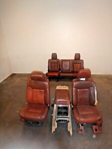 Ford F250 F350 Front Rear Seat Set King Ranch Leather Power 11 12 13 14 15 16