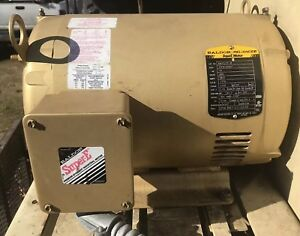 10 Hp 3 Ph Three Phase Electric Motor Em3313t Baldor 1770 Rpm 215t Frame Used