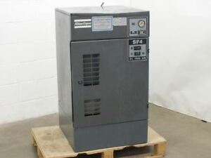 Atlas Copco Sf4 Air Compressor Oil Free Scroll With Dryer As is