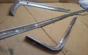 1961 62 63 Ford Galaxie Back Window Exterior Moldings