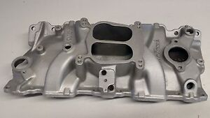 Edelbrock 2101 Small Block Chevy Performer Intake Manifold Aluminum Dual Plane