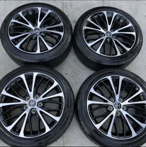 2018 18 Toyota Camry Se Le Wheels Rims Oem Factory Bridgestone Tires Like New